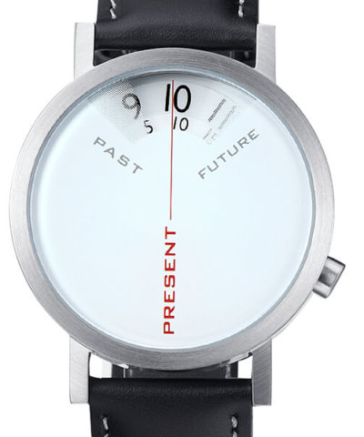 Past Present Future Steel Watch